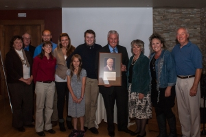 John Bandimere, center, with family at the Hall of Fame event in October. Photo courtesy Matt Lewis.