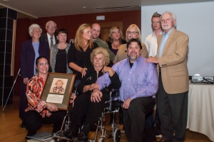 The family of Viona Mae Hader gathered to accept the Hall of Fame plaque. Photo courtesy Matt Lewis.