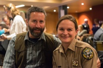 Jennifer Anderson, manager of Staunton State Park, with Jason Anderson at the Hall of Fame event. Photo by Matthew Lewis.