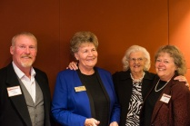 Gary Shea, Commissioner Faye Griffin, and name, with Bonnie Scudder, author of The Secrets of Elk Creek, at the Hall of Fame event. Photo by Matthew Lewis.
