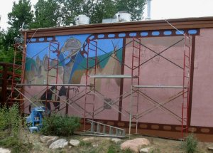The mural was well underway by August 2007.