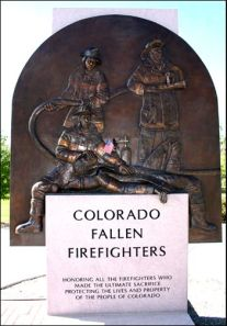 The Fallen Firefighters relief is located at Belmar in Lakewood.