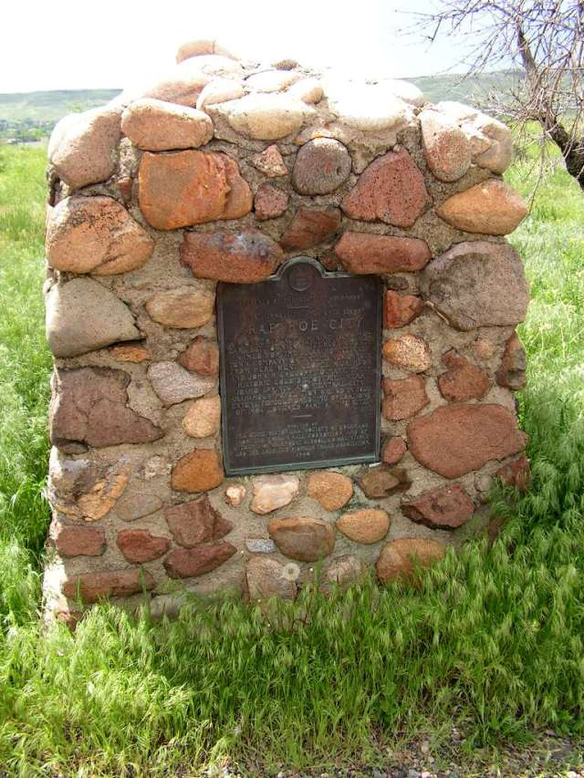 Arapahoe City Monument, West 44th Ave near Golden. Photo courtesy Peter J. Modreski.