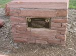 Flagstone monument for CCC Worker Statue, dedicated September 6, 2004 at top of Red Rocks Amphitheatre.