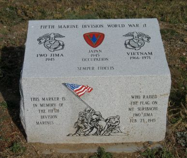 Marine 5th Division monument at Marine Corps Memorial.