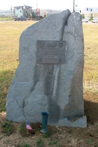 Monument to Marine Amphibious Forces at Marine Corps Memorial.