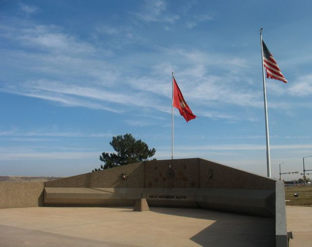 Marine Corps Memorial, near intersection of West Colfax Avenue and West 6th Avenue.
