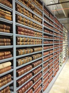 More than 1600 bound ledger books are housed in the Jeffco Archives.
