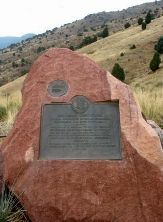 Original CCC plaque at Red Rocks. Photo by S.L. White,