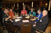 Cynthia Shaw, Ronda Frazier, Doyle Harrison, Bonnie Scudder, Margaret Chapman, Bill Chapman at the Hall of Fame Awards event.