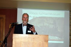 Donald Tallman, director of the Colorado Railroad Museum in Golden, accepted the Meyer Award.