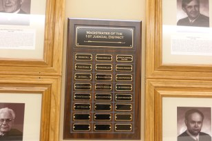 Plaque displaying the names of Magistrate Judges