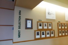 Wall displaying the Judges of the Merit Selection Era