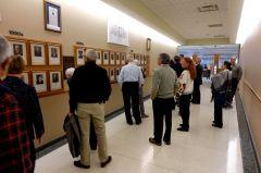 People looking at Judge's Wall.